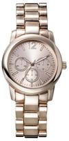 Merona Women's Analog Link Wristwatch with Decorative Dials - Rose Gold