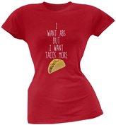 Tee's Plus I Want Abs But I Want Tacos More Soft Juniors T-Shirt