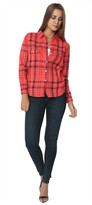 Sundry Basic Flannel Plaid Rubis