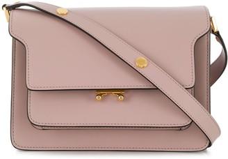 Marni lilac Trunk medium leather shoulder bag