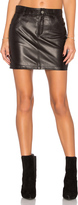 Anine Bing Classic Leather Skirt