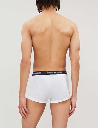 Emporio Armani Pack of three logo slim-fit cotton briefs
