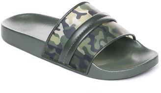 Bernardo Camo Flat Pool Slide Sandals
