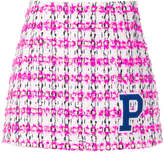 P.A.R.O.S.H. textured tweed mini skirt