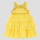 Beauty & The Beast Baby Girls' Beauty And The Beast Empire Dress - Rose Yellow
