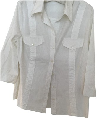 Escada White Cotton Top for Women