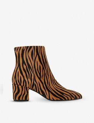 Dune Omarii pony hair heeled ankle boots