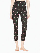 Kate Spade Lux print high waist side bow capri