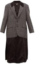 Junya Watanabe Layered Wool And Satin Jacket - Womens - Grey Multi