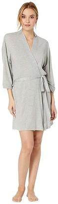 Splendid Always Ribbed PJ Robe (Light Heather Grey) Women's Robe
