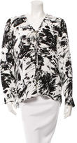 Karina Grimaldi Printed Lace-Up Blouse w/ Tags