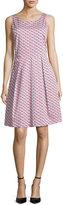 Armani Collezioni Mosaic-Print Sleeveless A-Line Dress, Multicolor