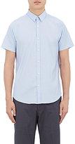 Theory Men's Zack Pinstriped Cotton-Blend Shirt-LIGHT BLUE, BLUE