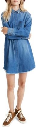 Madewell Oversized Denim Boyfriend Shirt Dress
