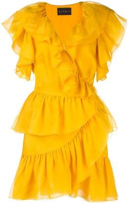Dundas ruffled mini dress