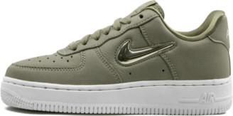 Nike Womens Air Force 1 07 Premium L 'Premium Leather Jewel Swoosh - Olive' Shoes - Size 5W