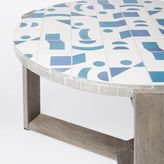 west elm Mosaic Tiled Coffee Table - Two Tone Geo