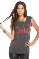 Chaser LA Yes Coke Sleeveless Tunic in Vintage Black