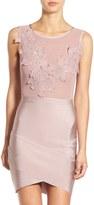 Missguided Floral Applique Body-Con Dress