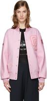 Opening Ceremony Pink Varsity Bomber Jacket