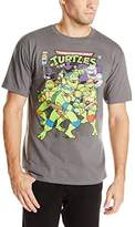 Nickelodeon Teenage Mutant Ninja Turtles Men's Group and Villains Vintage T-Shirt