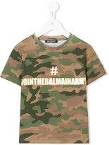 Balmain Kids #jointhebalmainarmy print T-shirt