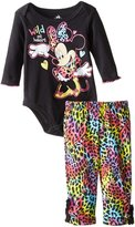 Disney Baby Girls' Minnie Mouse Girl Bodysuit and Pant Set, Wild