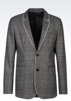 Emporio Armani Jacket In Prince Of Wales Broadcloth