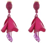 Oscar de la Renta Small Impatiens Flower Drop C Earrings Earring