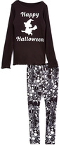 Beary Basics Black 'Happy Halloween' Tee & Skull Leggings - Toddler & Girls
