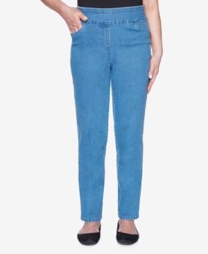 Alfred Dunner Plus Size Pull On Back Elastic Proportioned Short Allure Superstretch Denim Jean