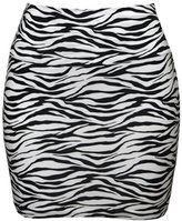 MonsterCloset Zebra Print Mini Skirt