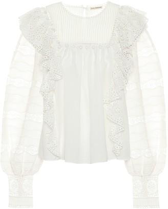 Ulla Johnson Cotton-blend blouse