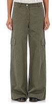 R/R Studio by Robert Rodriguez Women's Cotton Wide-Leg Cargo Pants-DARK GREEN