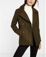 Express piped peacoat