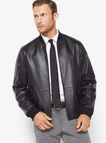 Michael Kors Reversible Leather And Nylon Jacket