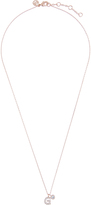 Accessorize Rose Gold Diamante Inital G Pendant Necklace