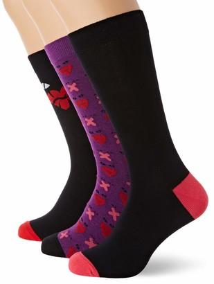 Diesel Men's Hermine 3-Pack Printed Socks