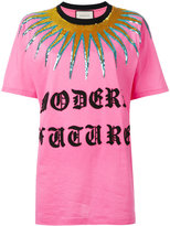 Gucci logo patch T-shirt - women - Cotton/Acrylic/Nylon/Wool - XS