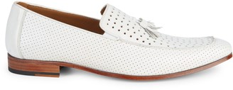 Mezlan Perforated Leather Tassel Loafers