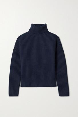 La Ligne Ribbed Cashmere Turtleneck Sweater - Navy