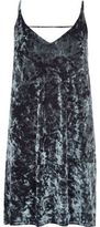 River Island Womens Grey marble velvet cami dress