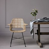 Graham and Green Round Rattan Tub Chair In Natural