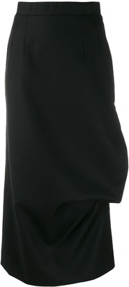 MATÉRIEL Side Slit Detail Pencil Skirt