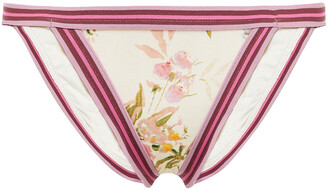 Zimmermann Floral-print Low-rise Bikini Briefs