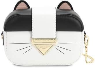 Karl Lagerfeld Paris LEATHER CAT CLUTCH
