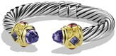 David Yurman Renaissance Bracelet with Amethyst, Iolite & Gold
