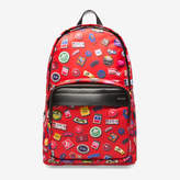 Bally Wolfson Large Red, Women's nylon backpack in lipstick