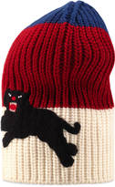 Gucci Web wool hat with panther