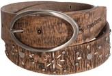 John Deere Distressed Leather Belt (For Women)